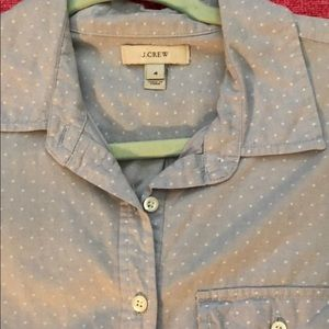 J. Crew Tops - Jcrew blue polka dotted button-up